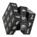 Cubo mágico  irregular plateado