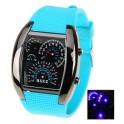 Reloj LED car watch  luz azul
