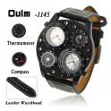 Reloj militar Marca Oulm  doble hora